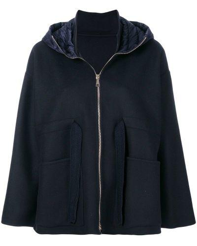 Куртка с капюшоном длинная пуховая на молнии Moncler