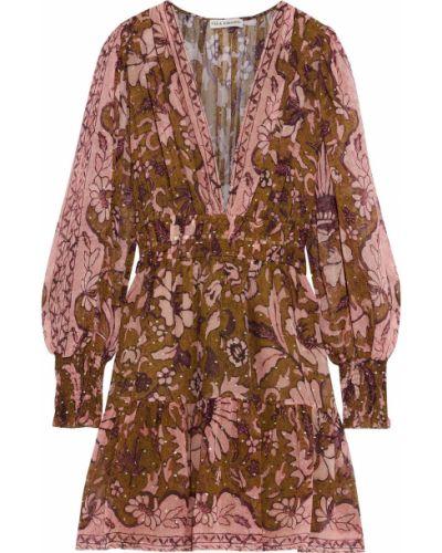Шелковое платье мини - зеленое Ulla Johnson