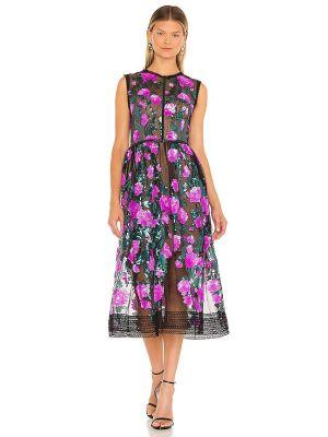 Кружевное платье миди - черное Bronx And Banco