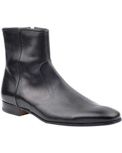 Кожаные ботинки осенние черные Bally