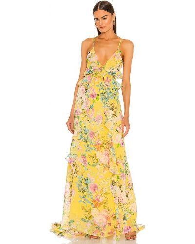 Шифоновое вечернее платье - желтое Rococo Sand