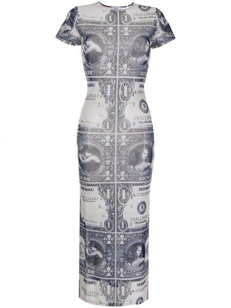 Niebieska sukienka krótki rękaw Miaou