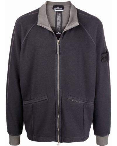 Куртка с рукавом реглан - серая Stone Island Shadow Project