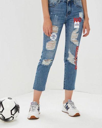 Синие джинсы рваные By Swan