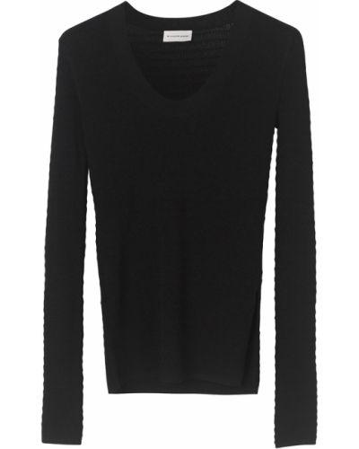 Czarna koszulka By Malene Birger
