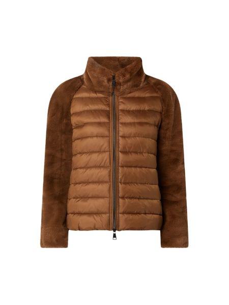 Brązowa kurtka pikowana z raglanowymi rękawami Luisa Cerano