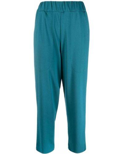 Синие укороченные брюки из вискозы Barena