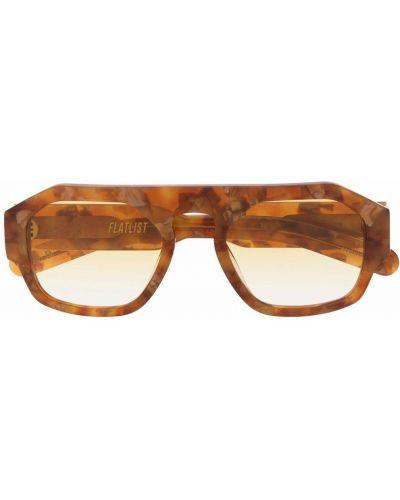 Pomarańczowe okulary Flatlist