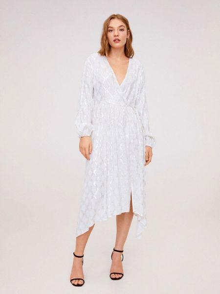 Белое вечернее платье Mango
