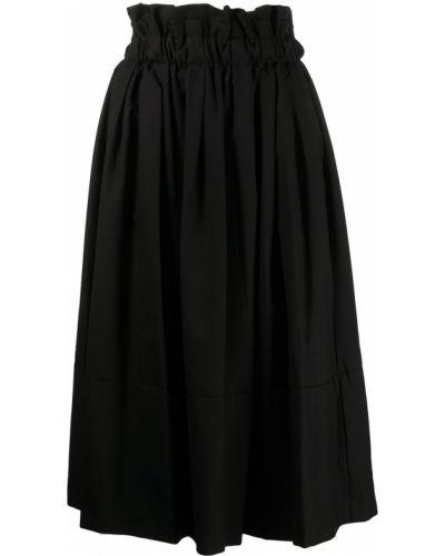 Шерстяная юбка миди - черная Comme Des Garçons Noir Kei Ninomiya