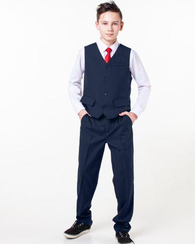Синяя костюмная жилетка на пуговицах с подкладкой Orby