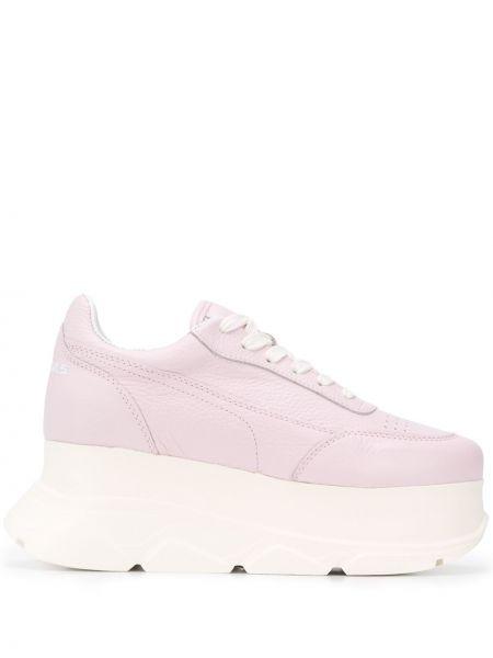 Różowe sneakersy na platformie skorzane Joshua Sanders
