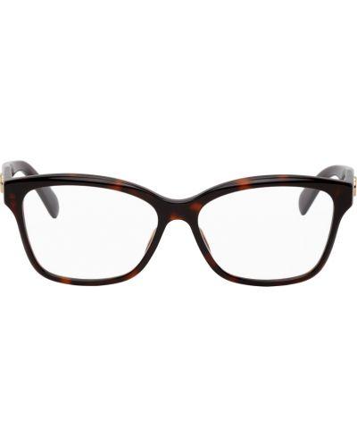 Fioletowe złote okulary Gucci