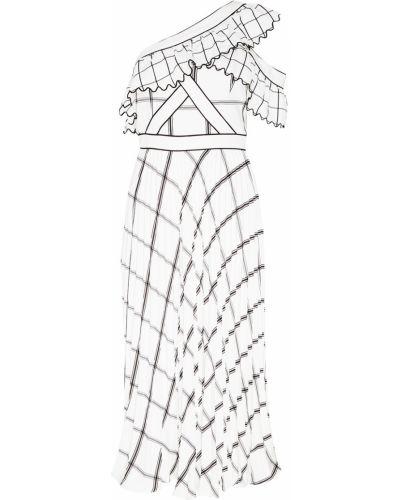 Платье миди в клетку приталенное Self-portrait