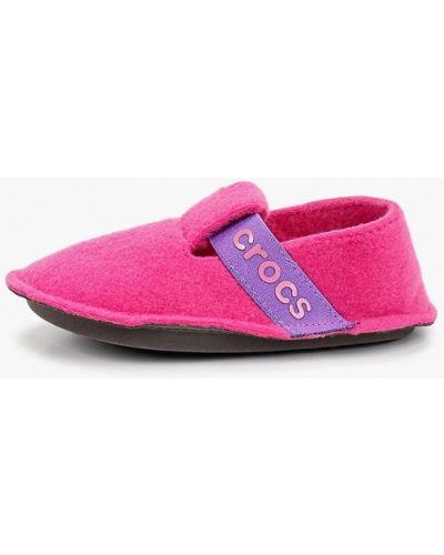 Розовые домашние тапочки Crocs