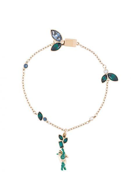 Niebieska złota bransoletka ze złota pozłacana Atelier Swarovski