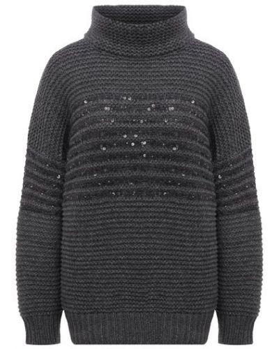 Серая итальянская свитер Brunello Cucinelli