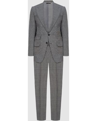 Костюмный шерстяной черный костюм Tom Ford