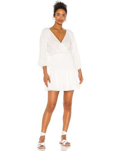 Платье мини с декольте - белое Suboo