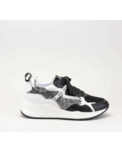 Czarne sneakersy skorzane Liu Jo