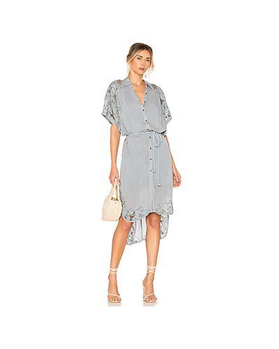 Платье миди с вышивкой с цветочным принтом Free People