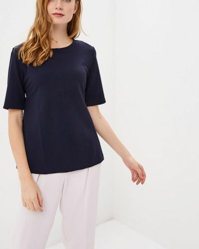 Блузка с коротким рукавом синяя весенний Sela