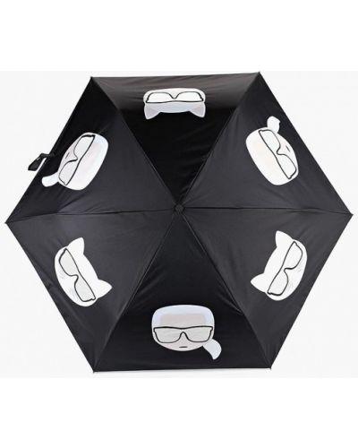 Черный зонт складной Karl Lagerfeld