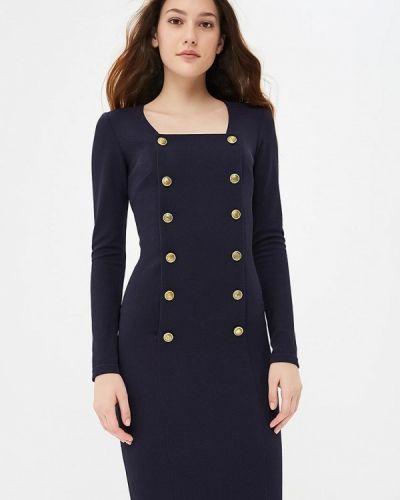 Платье осеннее синее Gorchica