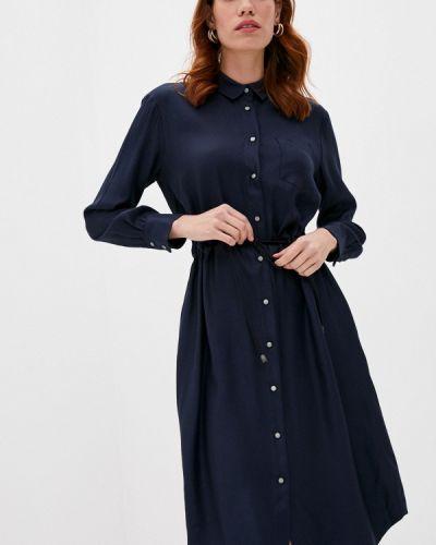Платье рубашка - синее Cappellini