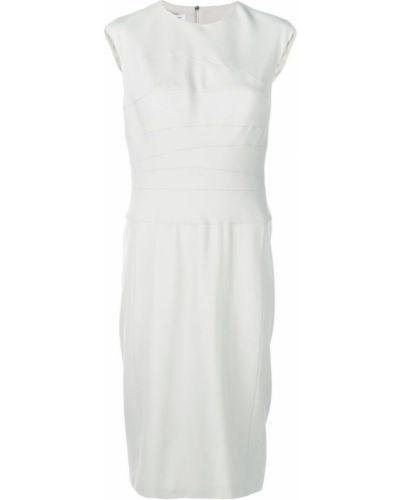 Приталенное платье миди - бежевое Narciso Rodriguez