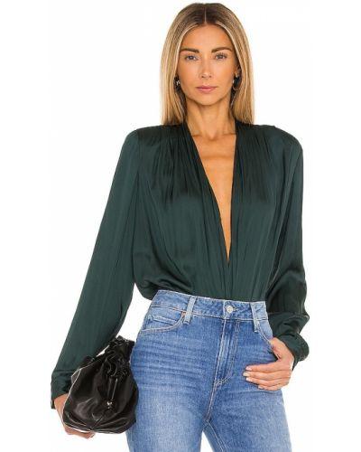 Зеленое повседневное текстильное боди Paige