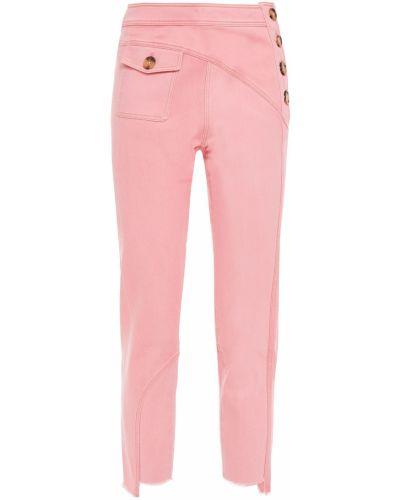Асимметричные синие укороченные джинсы с карманами Rejina Pyo