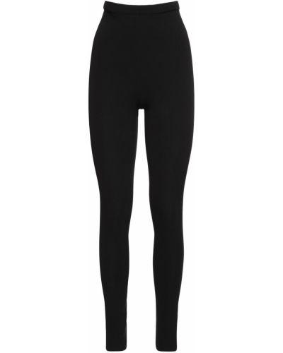 Черные леггинсы эластичные Valentino