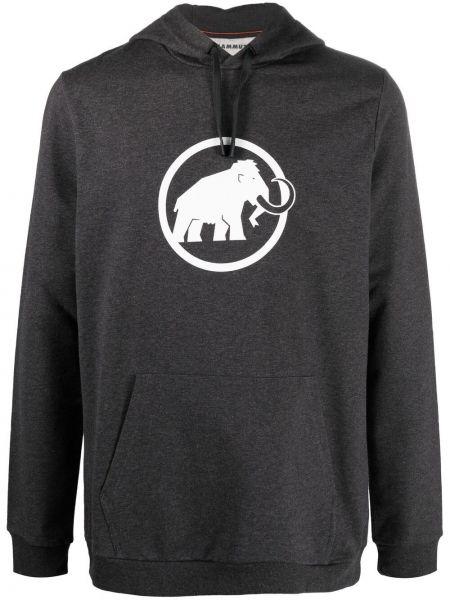Худи длинное - серое Mammut