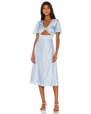 Платье миди на молнии из вискозы Song Of Style