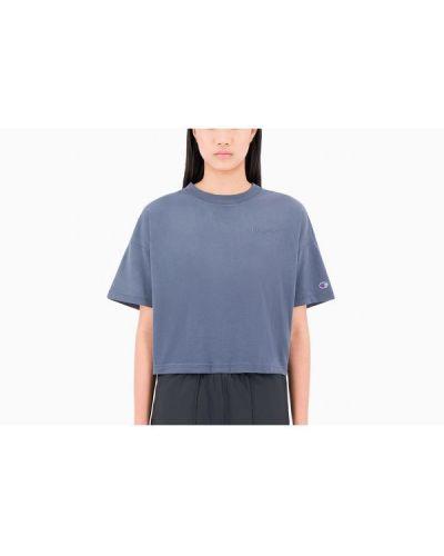 T-shirt bawełniana - niebieska Champion