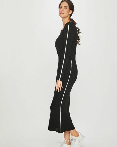 Акриловое прямое платье макси с вырезом Answear