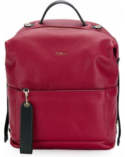 Красный рюкзак кожаный Furla