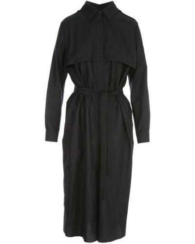 Czarny płaszcz Aspesi