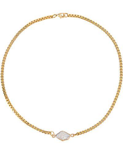 Choker z perłami metal pozłacany złoto Goldmine