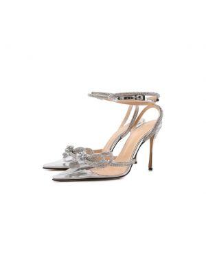 Серебряные кожаные туфли Mach & Mach