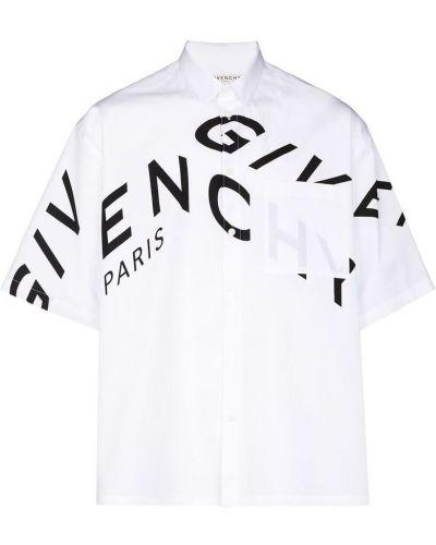 Biała koszula bawełniana zapinane na guziki Givenchy
