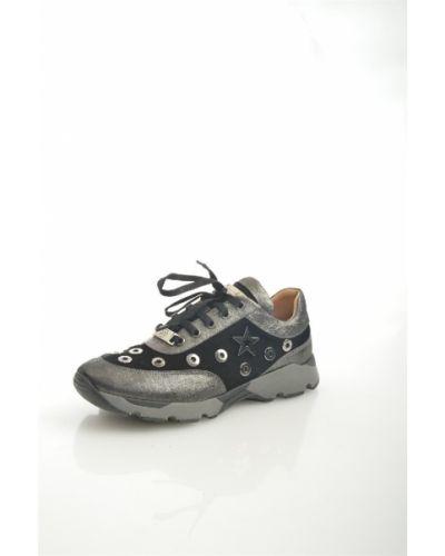 Кроссовки замшевые черные Lottini