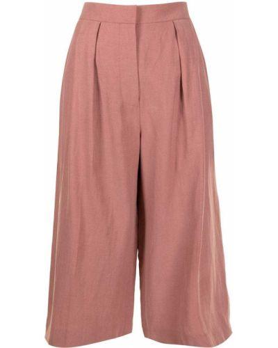 Свободные хлопковые розовые укороченные брюки Altuzarra