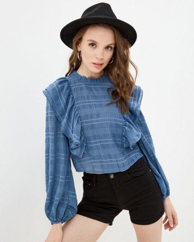 Синяя блузка с оборками Bruebeck