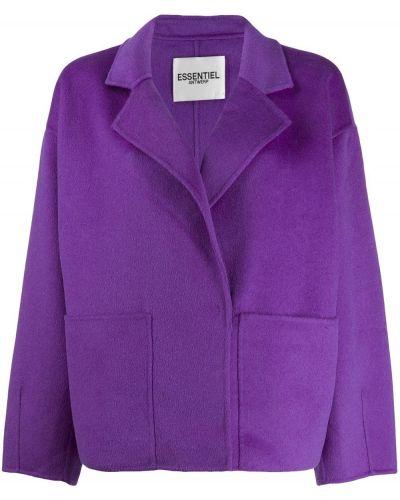 Классическое коралловое шерстяное длинное пальто Essentiel Antwerp