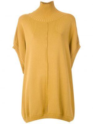 Желтая блузка летучая мышь с воротником свободного кроя Gloria Coelho