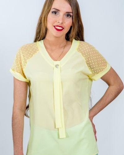 Блузка сетка с брошью Belirini