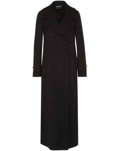 Длинное пальто шерстяное пальто Giorgio Armani