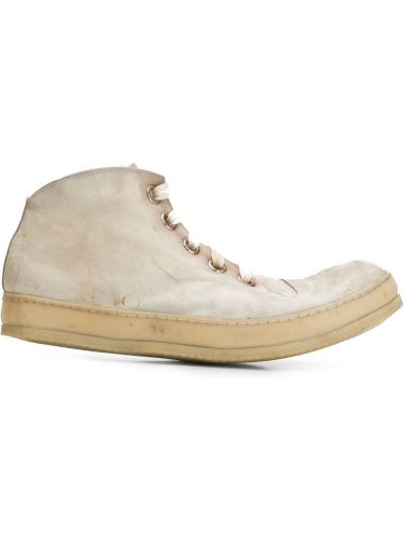 Białe sneakersy skorzane sznurowane A Diciannoveventitre